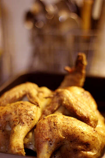Roast chicken in oven №40901