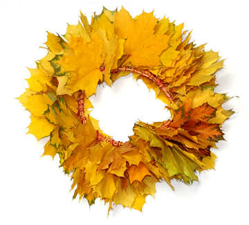 Autumn wreath isolated №40863
