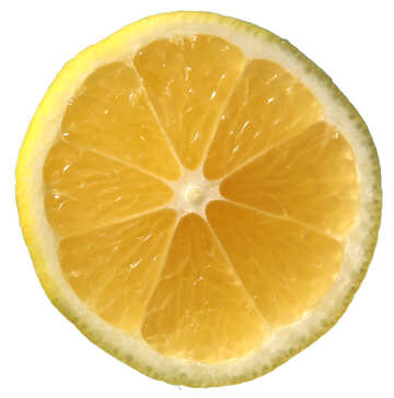 Cut lemon isolated №40743