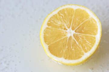 Lemon on light background №40748