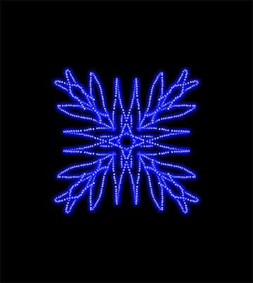 Neon geometric pattern №40225