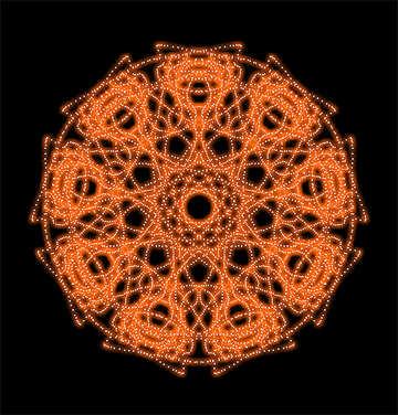 Orange pattern №40365
