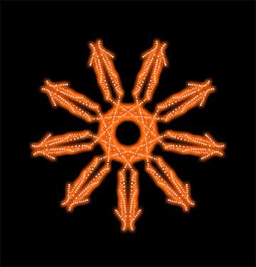 Orange pattern №40405