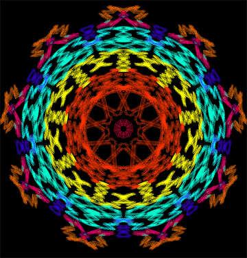 Ornament colors pattern №40326