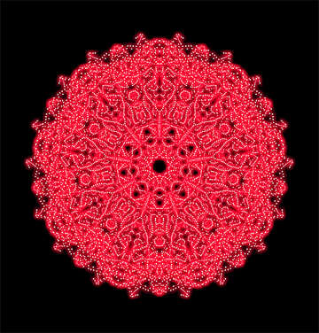 Red ornament №40359