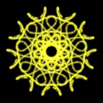 Ornament star pattern element №40259