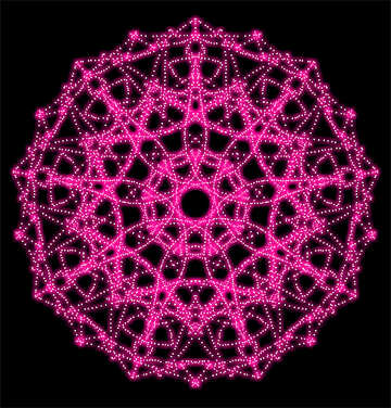 Ornament pattern from threads №40358