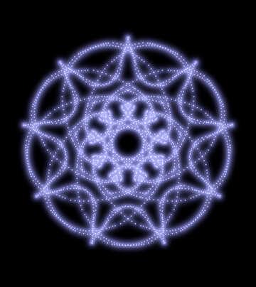 Ornament pattern rays №40532