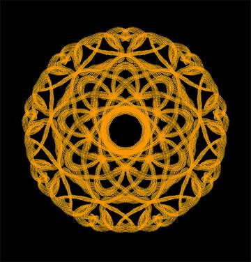 Ornament round №40291