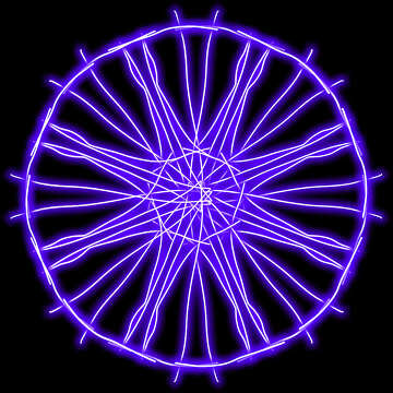 Glowing circle pattern №40034