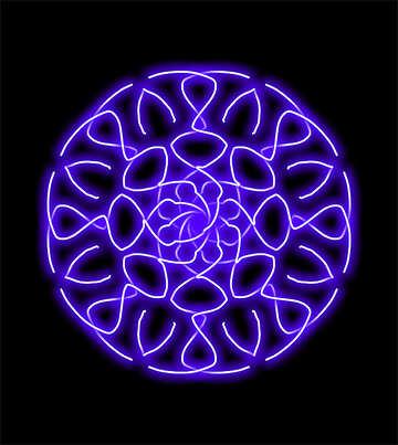 Cerchio di neon №40063
