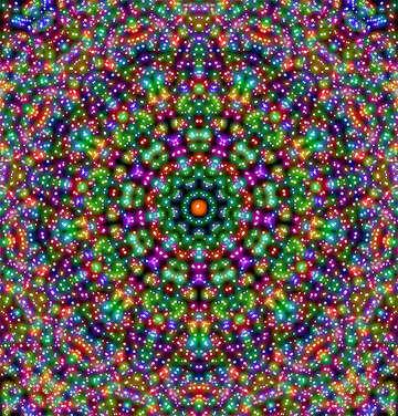 Symmetrical circular pattern №40438