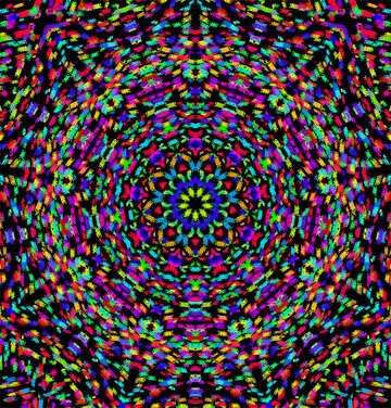 Circular texture vivid №40441