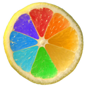 Colorful Rainbow lemon №40835