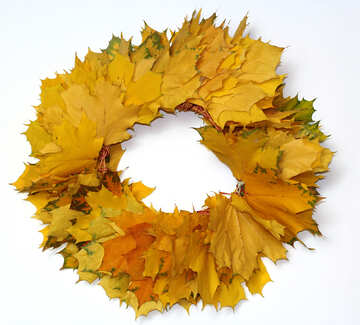 Autumn wreath frame №40866