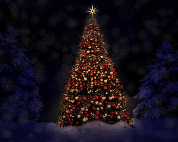 Christmas tree №40739