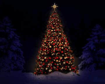 Neujahr-Baum №40738