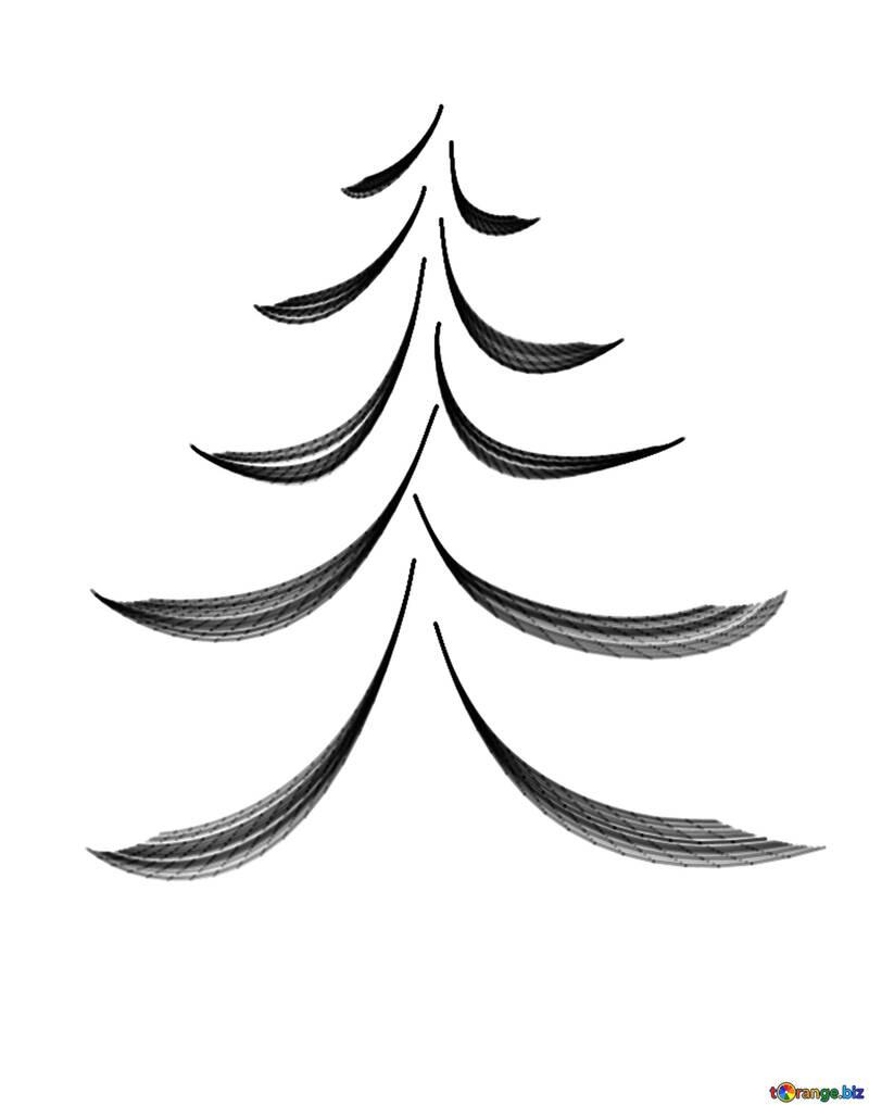 Figure calligraphy-style Christmas tree №40646