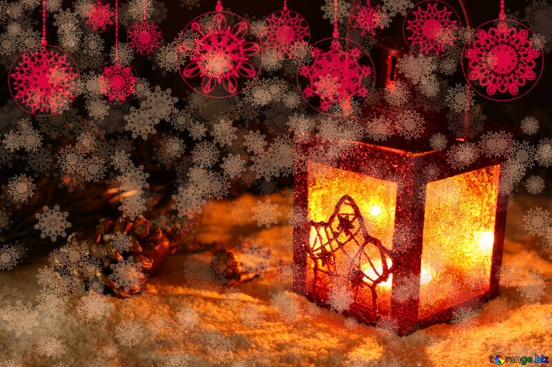 Background Christmas night №40681