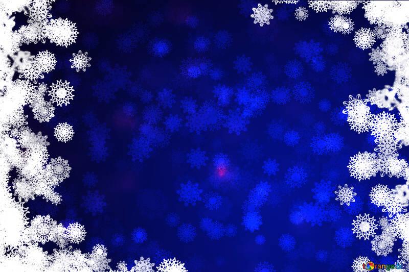 Синий фон рождество №40708
