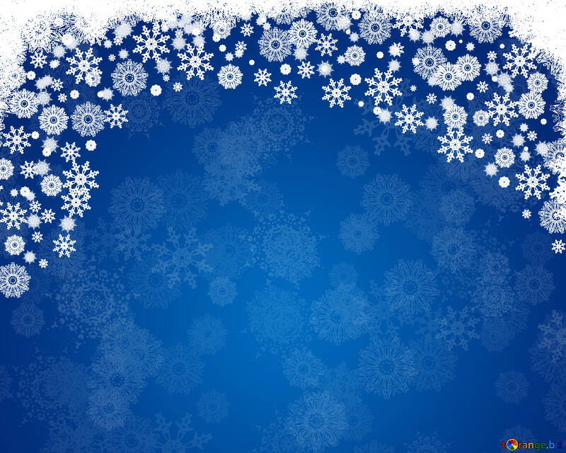 Blue Christmas background №40658