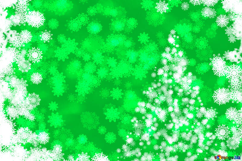 Green tree background Christmas and new year №40704