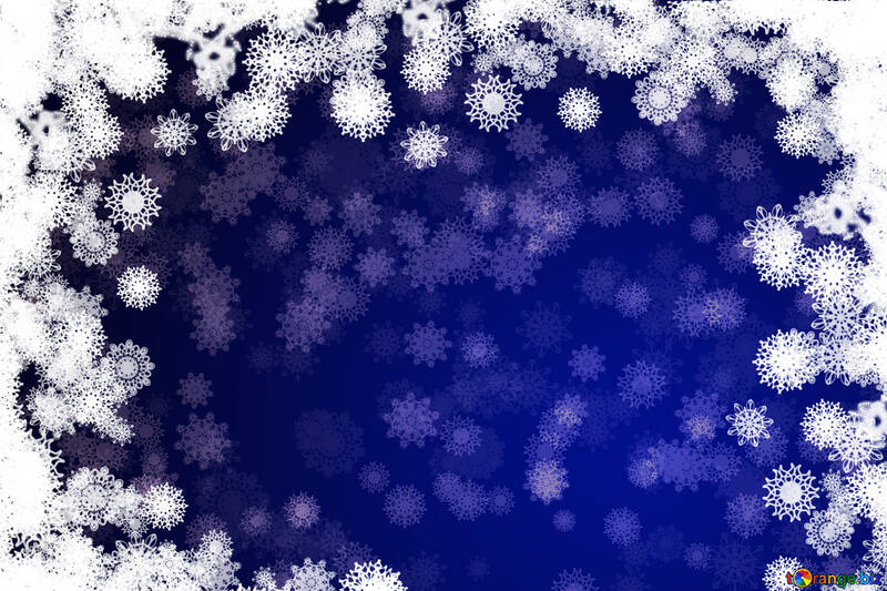 Background Blue Christmas and new year №40718