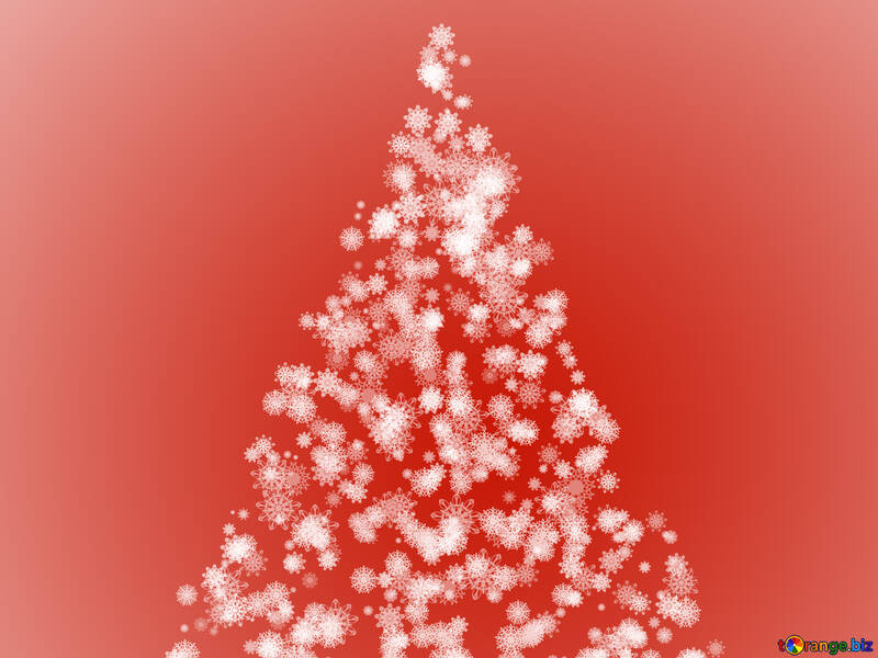 Clipart Christmas tree red from snowflakes №40735