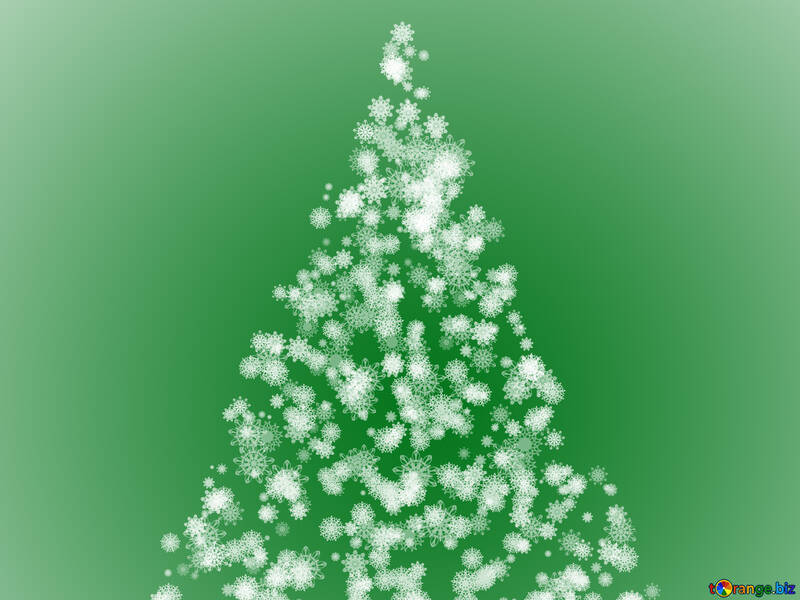 Clipart Christmas tree green of snowflakes №40736