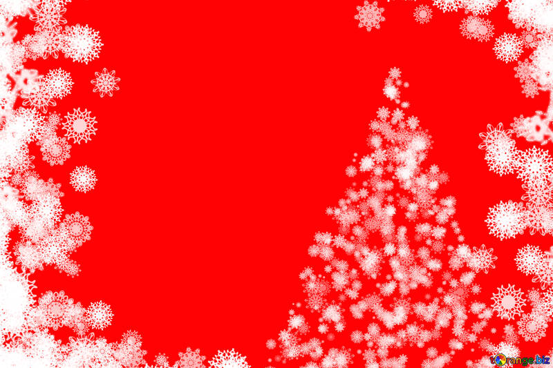 Background clipart Christmas tree with snowflakes №40696
