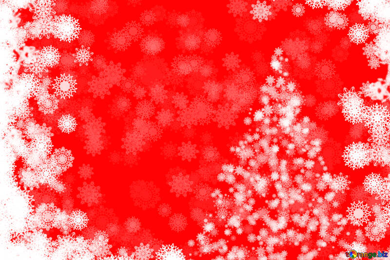 Red snowflakes new year tree clipart №40687