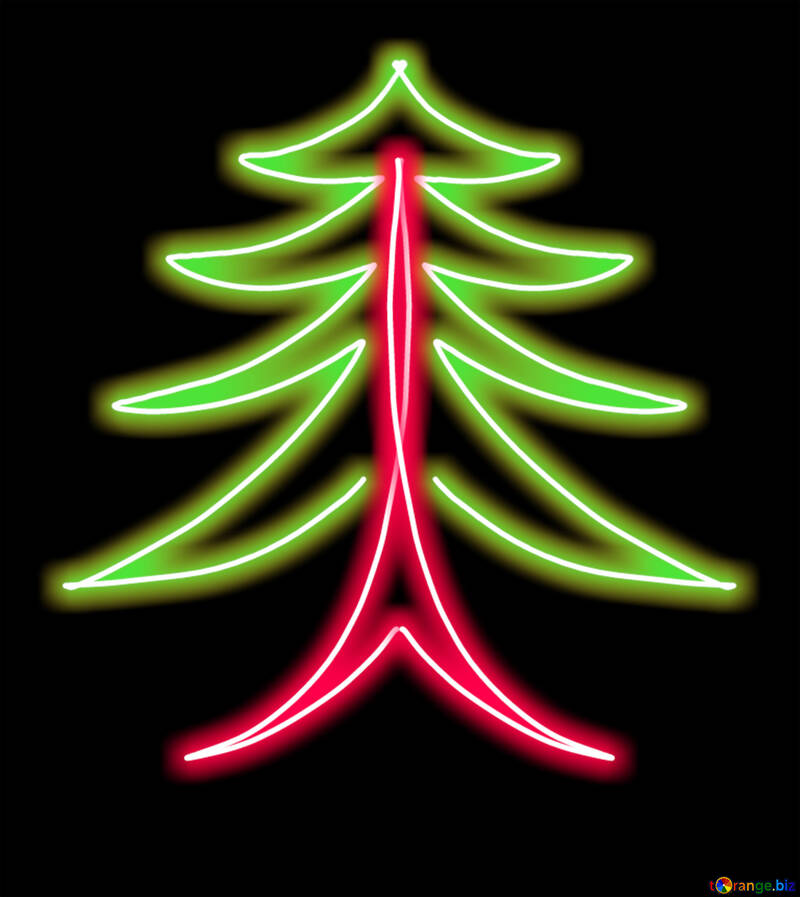 Clipart of stylized Christmas tree №40648