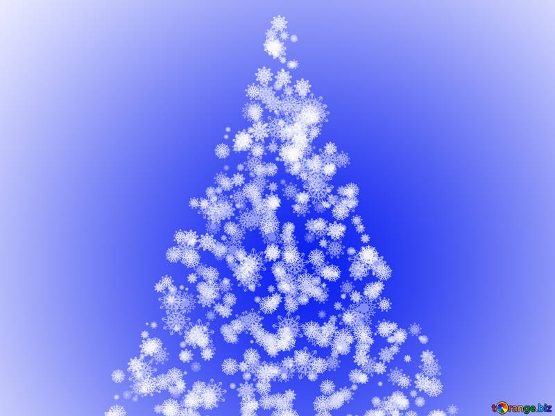 Weihnachtsbaum von Schneeflocken №40661