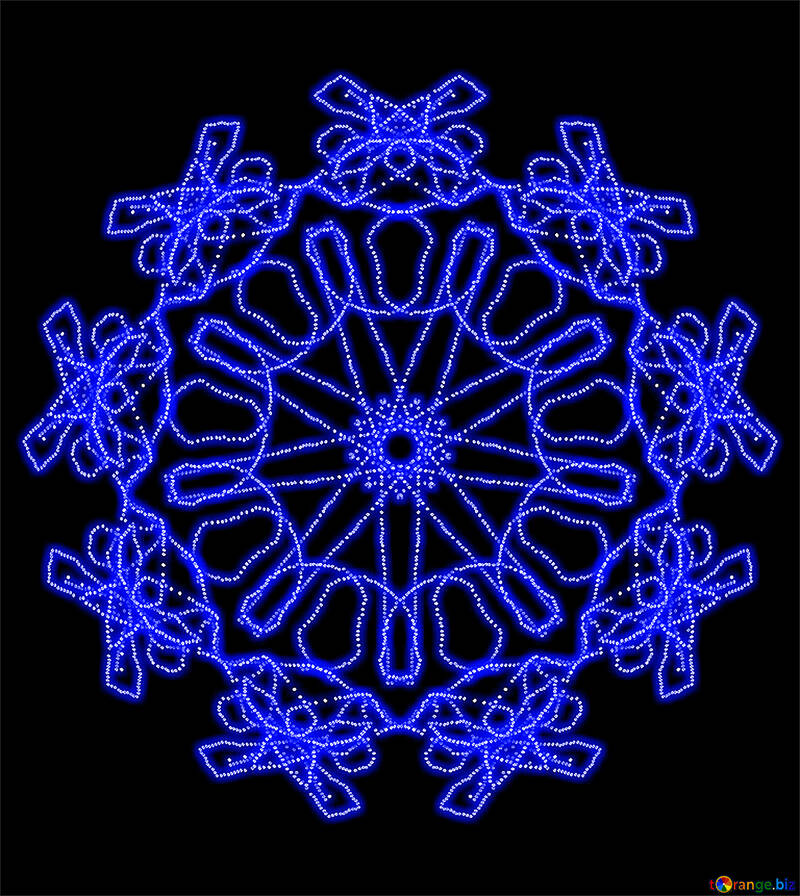 An abstract pattern from snowflake №40154