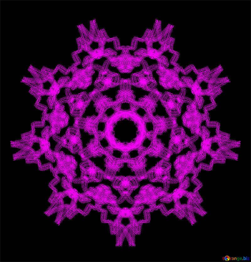 Ornament snowflake №40316