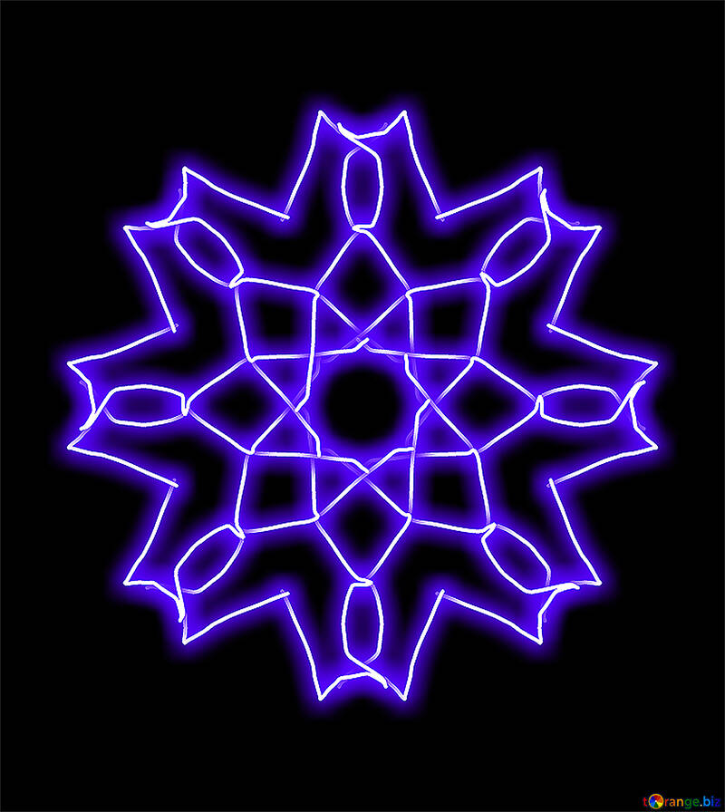 Pattern snowflake lighting №40062