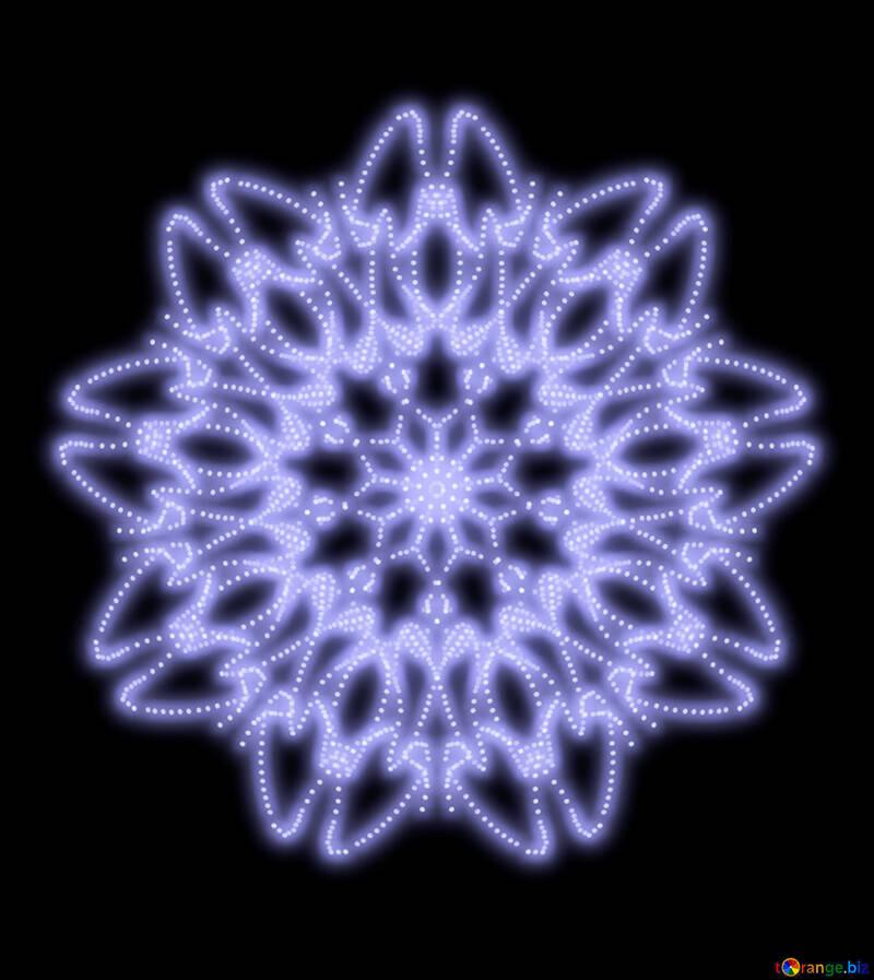 Pattern ornament snowflake №40546