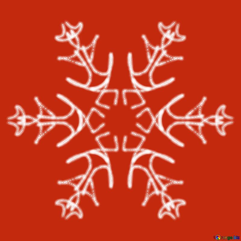 Snowflake pattern №40244