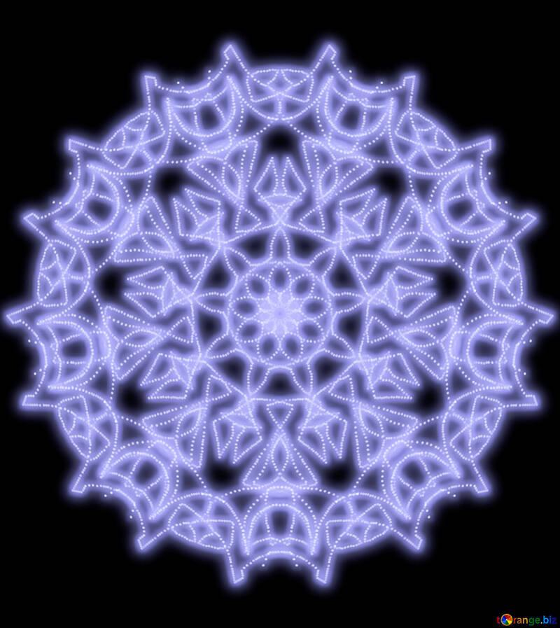 Snowflake pattern №40504
