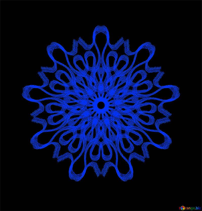 Ornament snowflake №40129
