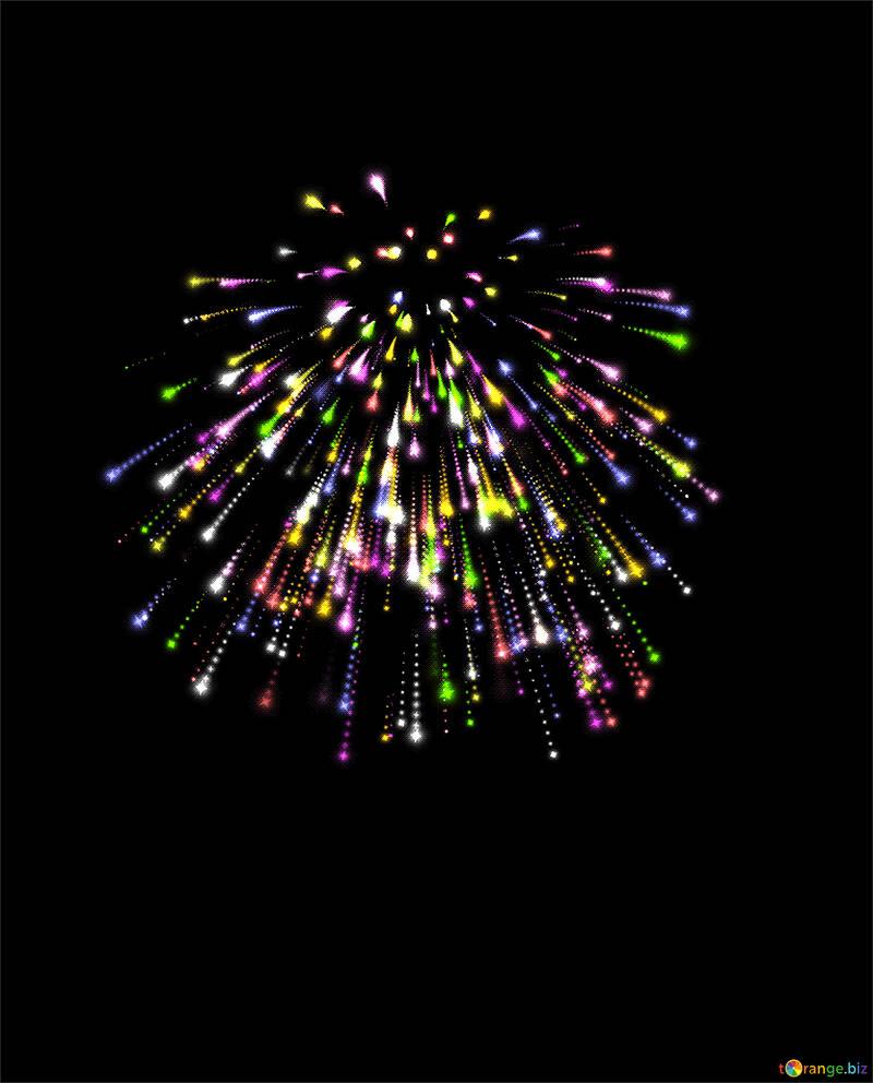 Buntes Feuerwerk №40025