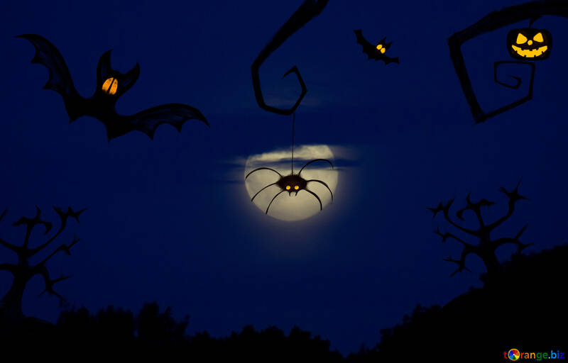 Halloween background for congratulations №40474