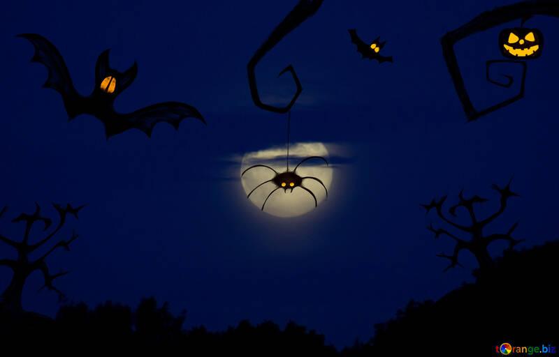 Halloween-Hintergrund für Glückwünsche №40474