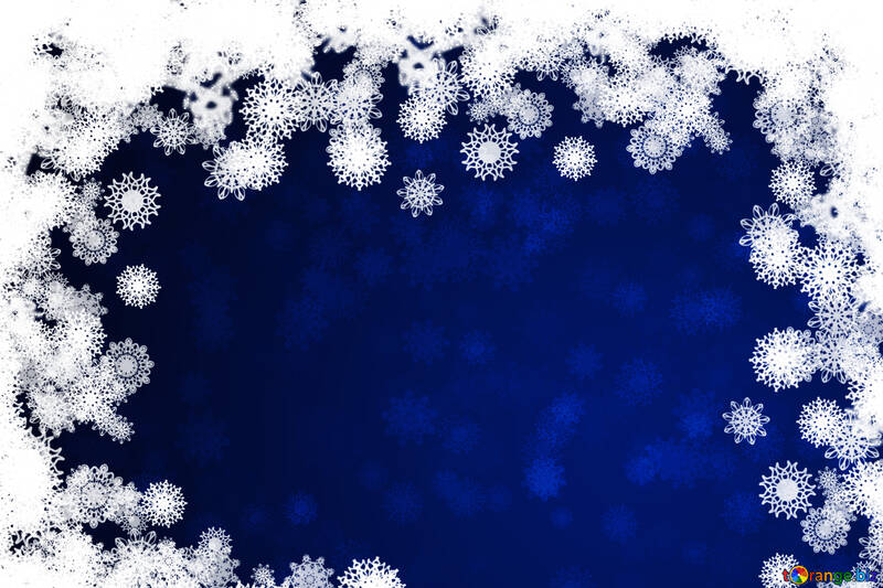 New year background with snowflakes №40728