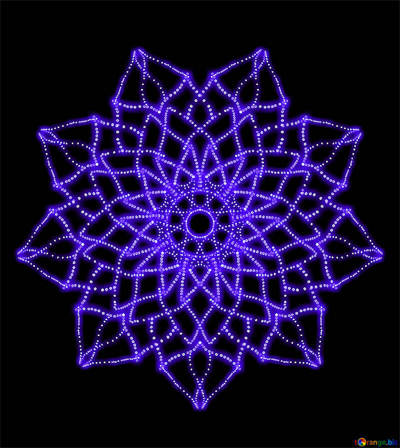 Flower-shaped pattern №40089