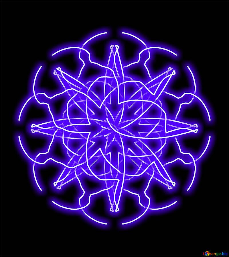 Neon pattern №40067