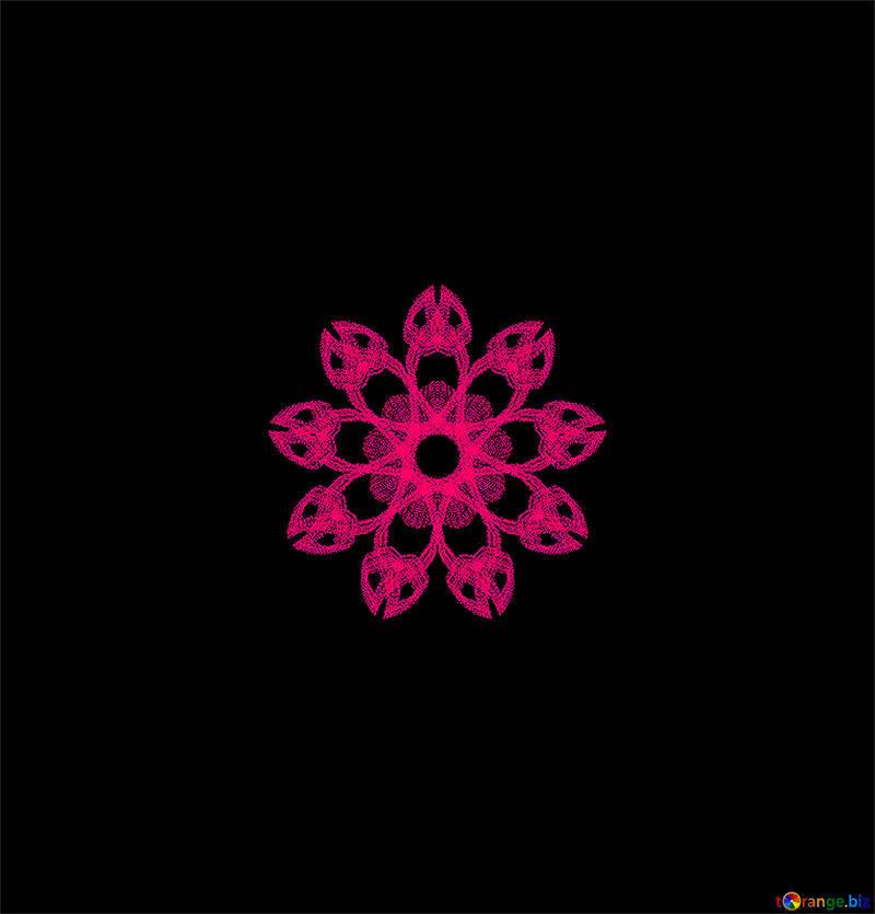 Bright flower motif №40384