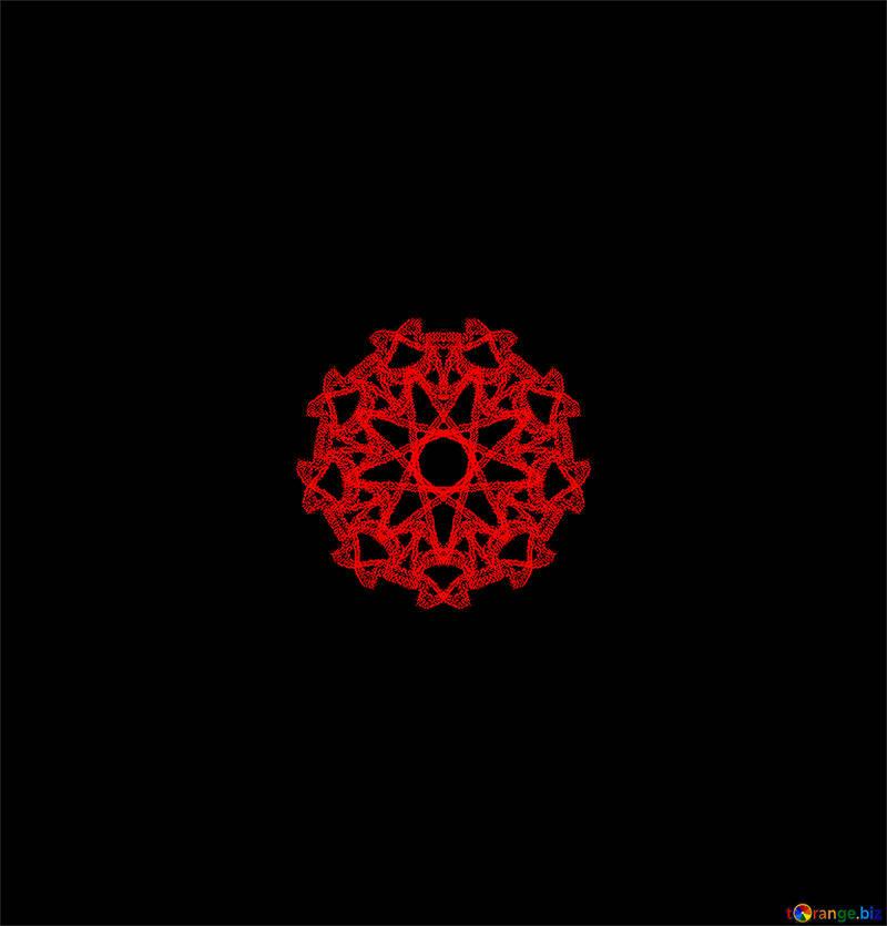 Red star motif №40386