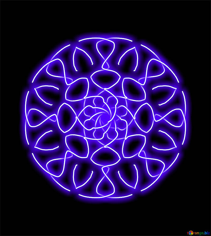 Neon circle №40063