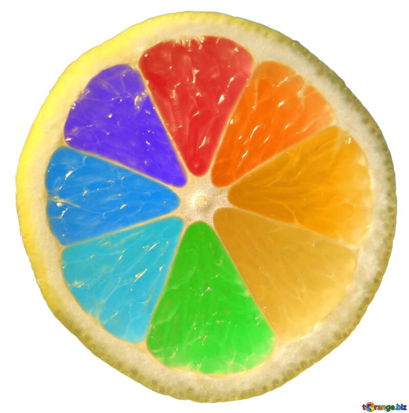 Colorful Rainbow lemon №40835
